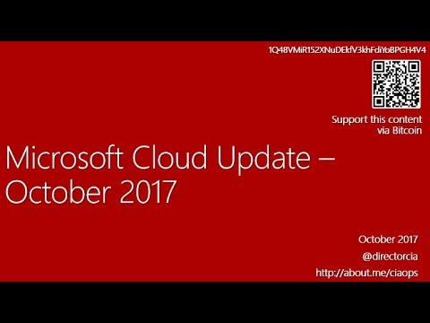 Microsoft Cloud Updates - October 2017