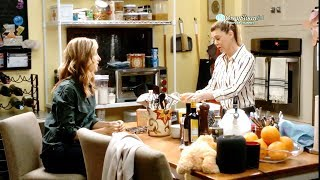 Grey's Anatomy 15x05 Meredith Encourages Teddy to Tell Owen about Her Pregnancy- They Bake Cookies