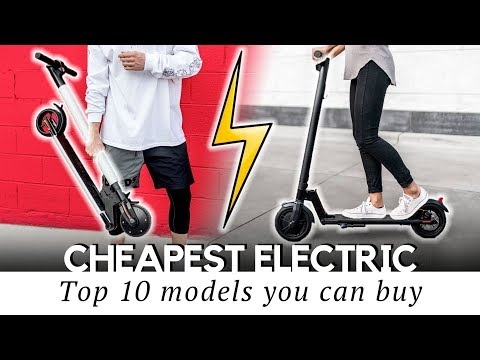 10 Cheapest Electric Scooters With Prices Starting At $200 (New And Trusted Models)