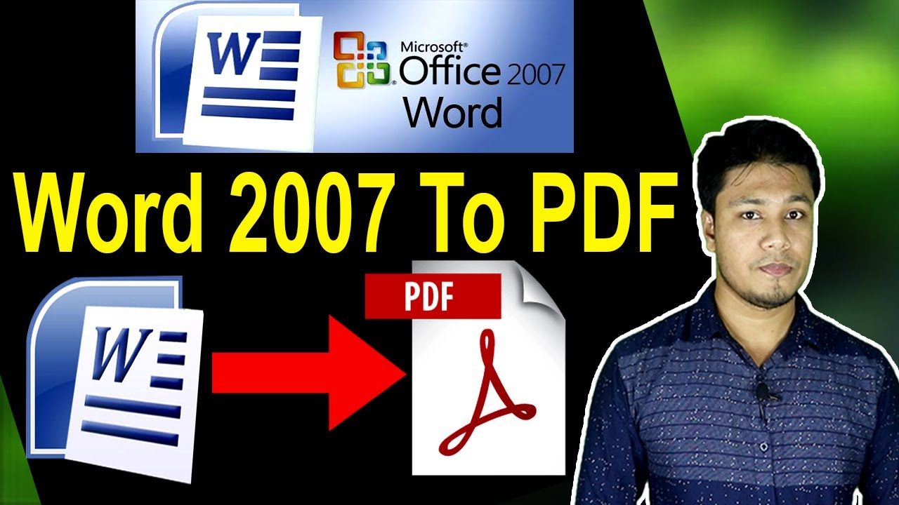 MS Word 20 to PDF Bangla Tutorial   Word 20 to PDF Converter   How To  Save As PDF Office 20