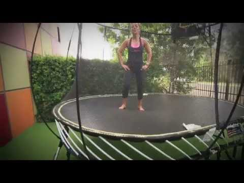 Jumping workout with Lean Mumma and Springfree Trampoline
