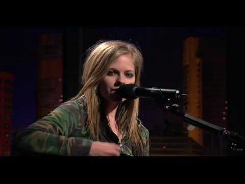 Avril Lavigne Dont Tell Me Live acoustic  in The Panel  2004