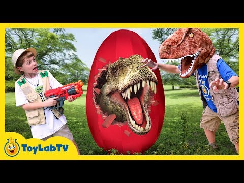 Thumbnail: GIANT T-REX EGG! Dinosaur Surprise Toys Opening & Dinosaurs for Children Family Fun Kids Video
