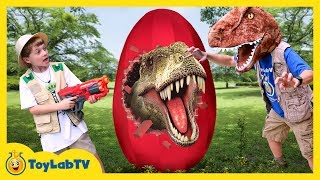 connectYoutube - Giant T-Rex Egg! Dinosaur Surprise Toys Opening & Toy Dinosaurs for Children, Family Fun Kids Video