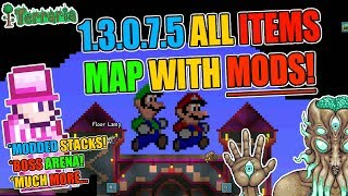 Terraria 1.3.0.7.7 All Items Map With Boss Arena And MODDED STACKS!! (ANDROID/IOS)
