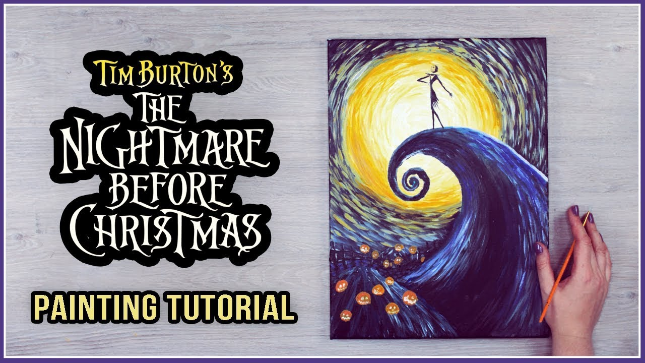 Acrylic Painting on a Canvas Tutorial for Halloween | The Nightmare ...
