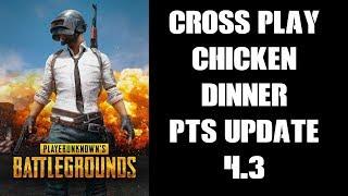 PUBG Cross Play CHICKEN DINNER & PTS 4.3 Update (PS4 Gameplay)