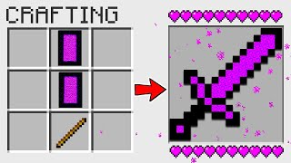 HOW TO CRAFT a NETHER PORTAL SWORD in Minecraft? SECRET RECIPE *O*