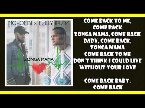 Mohombi ft  Fally Ipupa   Zonga Mama Lyrics Video