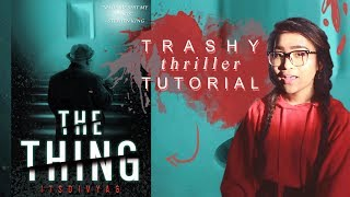 how to design a trashy mystery thriller book cover