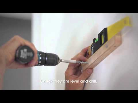 Comment installer un meuble mural meubles south shore doovi - Comment fixer une tablette au mur ...
