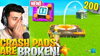 BROKEN Crash Pad Tricks You NEED To Know! (Free Elims!) - Fortnite Battle Royale