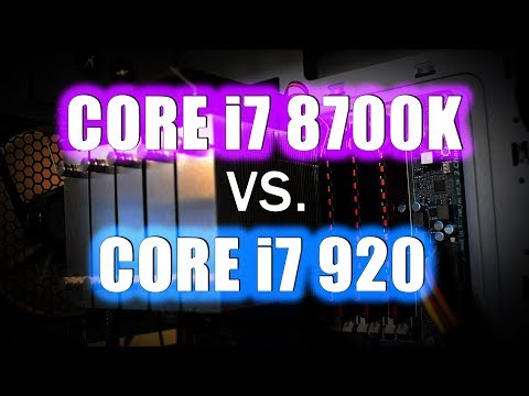 Core i7 8700K vs. Core i7 920 - Coffee Lake vs First Ever Core i7!