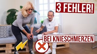 Mach das nicht! Bei Knieschmerzen solltest du diese 3 Fehler unbedingt vermeiden!