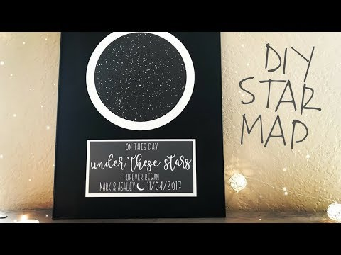 How to Make a Star Map | Print and Cut on Cricut Design