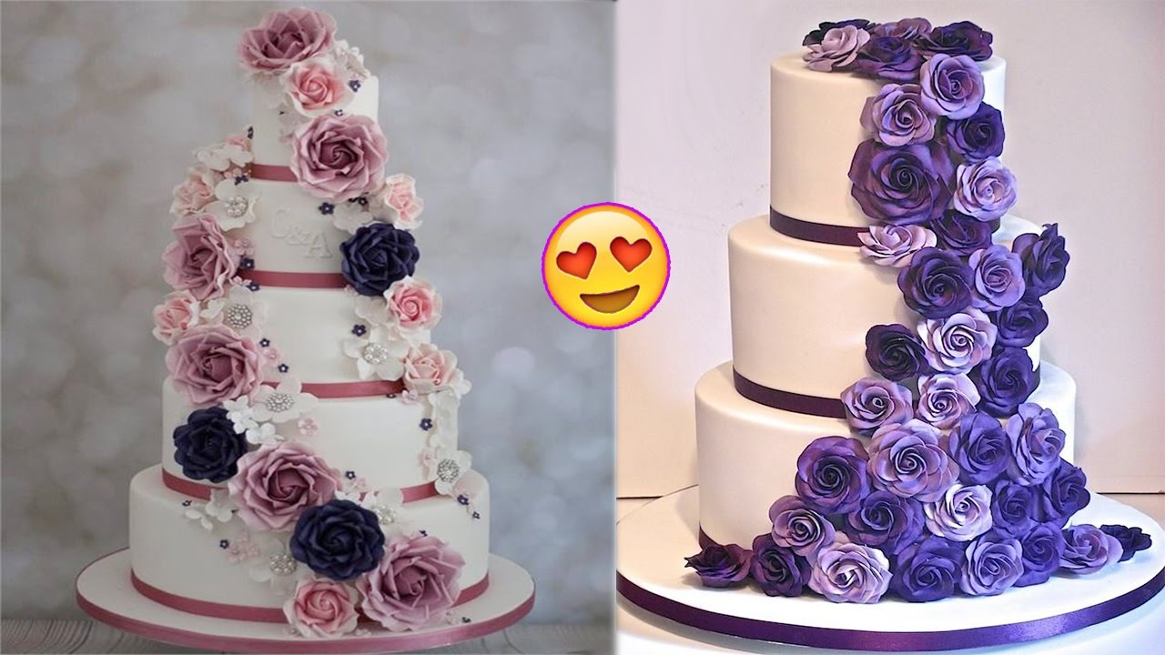 Most Satisfying Cake Compilation Video Ever Best Wedding Cake Decoration