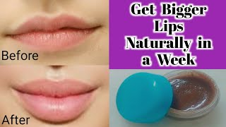 How to Get Bigger Lips Naturally in a week|Bigger Lips Treatment at Home|100%work (Urdu/Hindi)