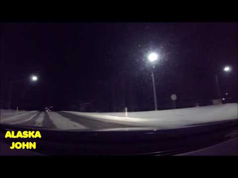 ALASKA DRIVING - Anchorage Nighttime - December 3rd 2016