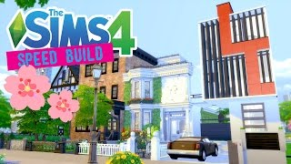 The Sims 4 -Speed Build- Japanese Townhouse (Collab) - No CC -