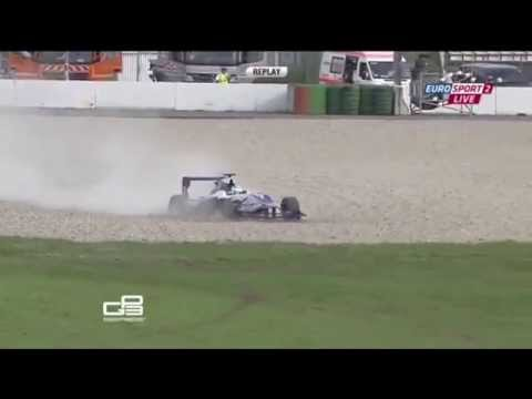 GP3 2014. Hockenheim. Carmen Jorda is Out
