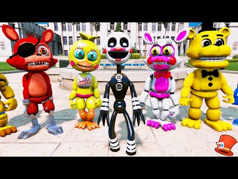 BRAND NEW PUPPET ANIMATRONIC! ADVENTURE PUPPET! (GTA 5 Mods For Kids FNAF RedHatter)