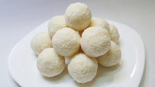 2 minute instant coconut ladoo ( only 2 ingredients )   Nariyal ladoo