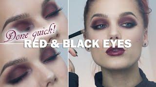 Done Quick- Red Black Eyes - Linda Hallberg makeup tutorials Thumbnail