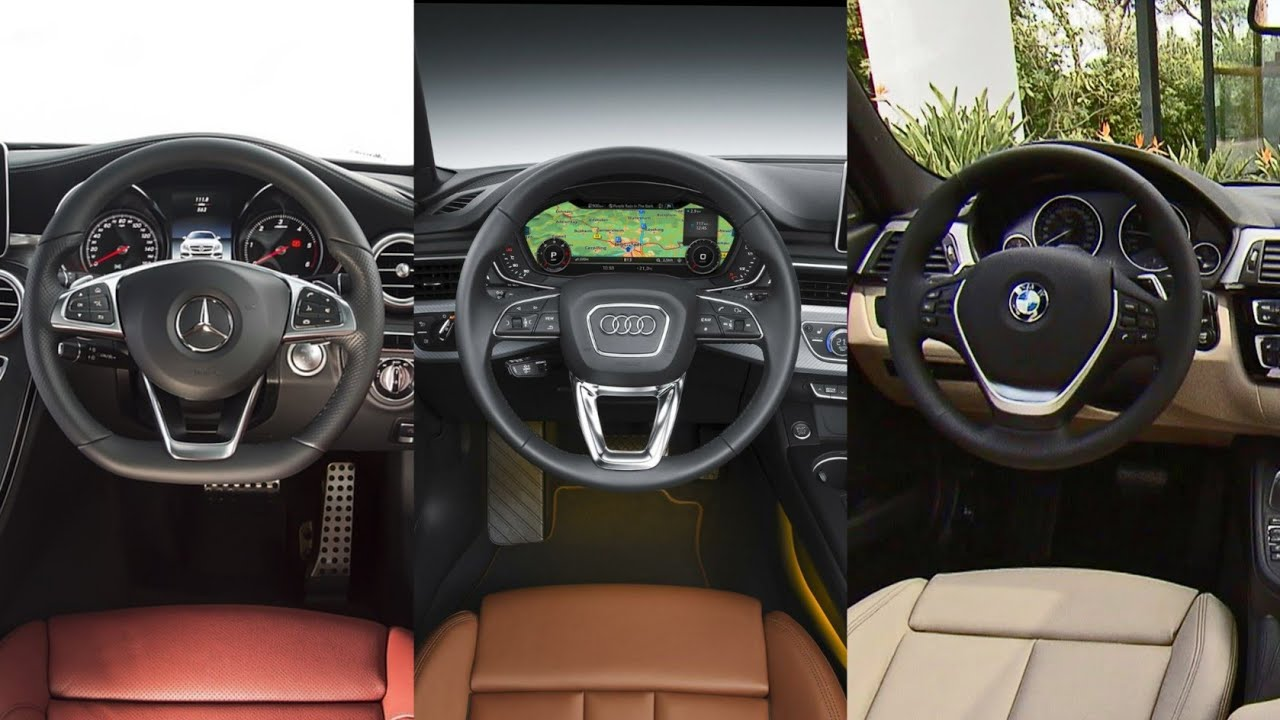 Audi A4 Vs Bmw 3 Series Vs Mercedes Benz C Class Interior Youtube