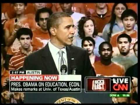 Obama On Education At UT Austin Part 1 of 3