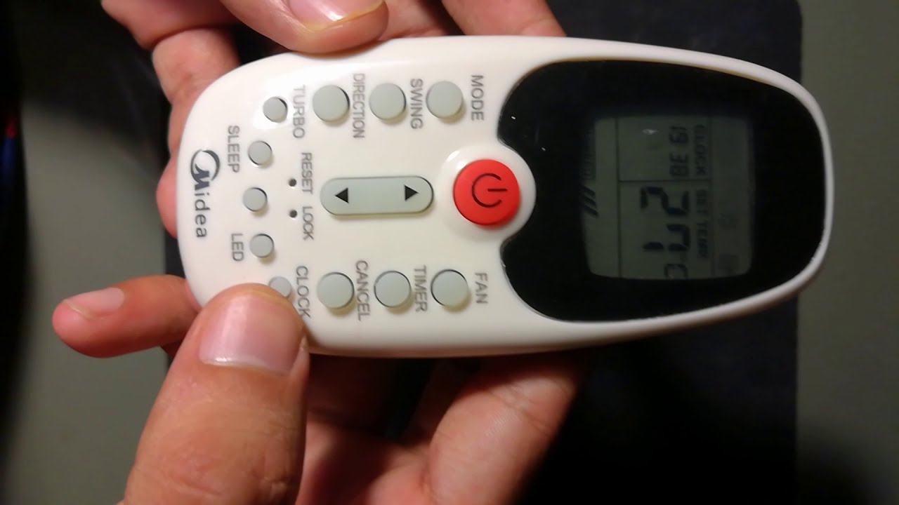 How to set time on Midea AC remote control