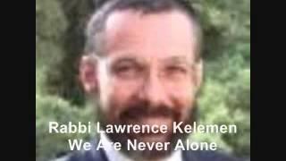 We Are Never Alone - Rabbi Lawrence Kelemen