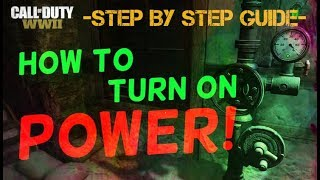 How To Turn On The Power! Step By Step Guide! | WW2 Zombies The Final Reich |