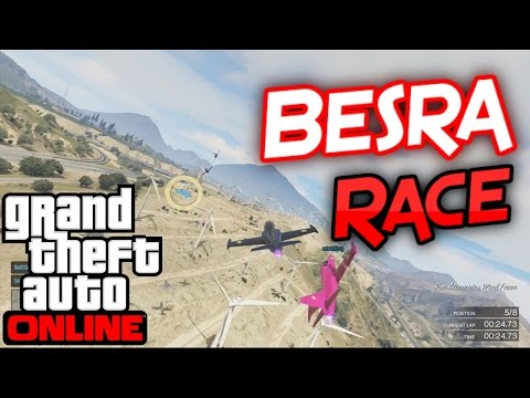 GTA V Online: Crosswind- Besra Race Through Turbines