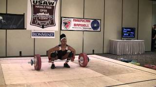 Jenny Arthur 134kg Clean and Jerk American Record