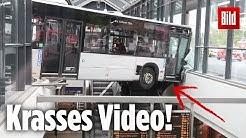 Busfahrerin verliert Kontrolle und rast in S-Bahnhof | Hamburg