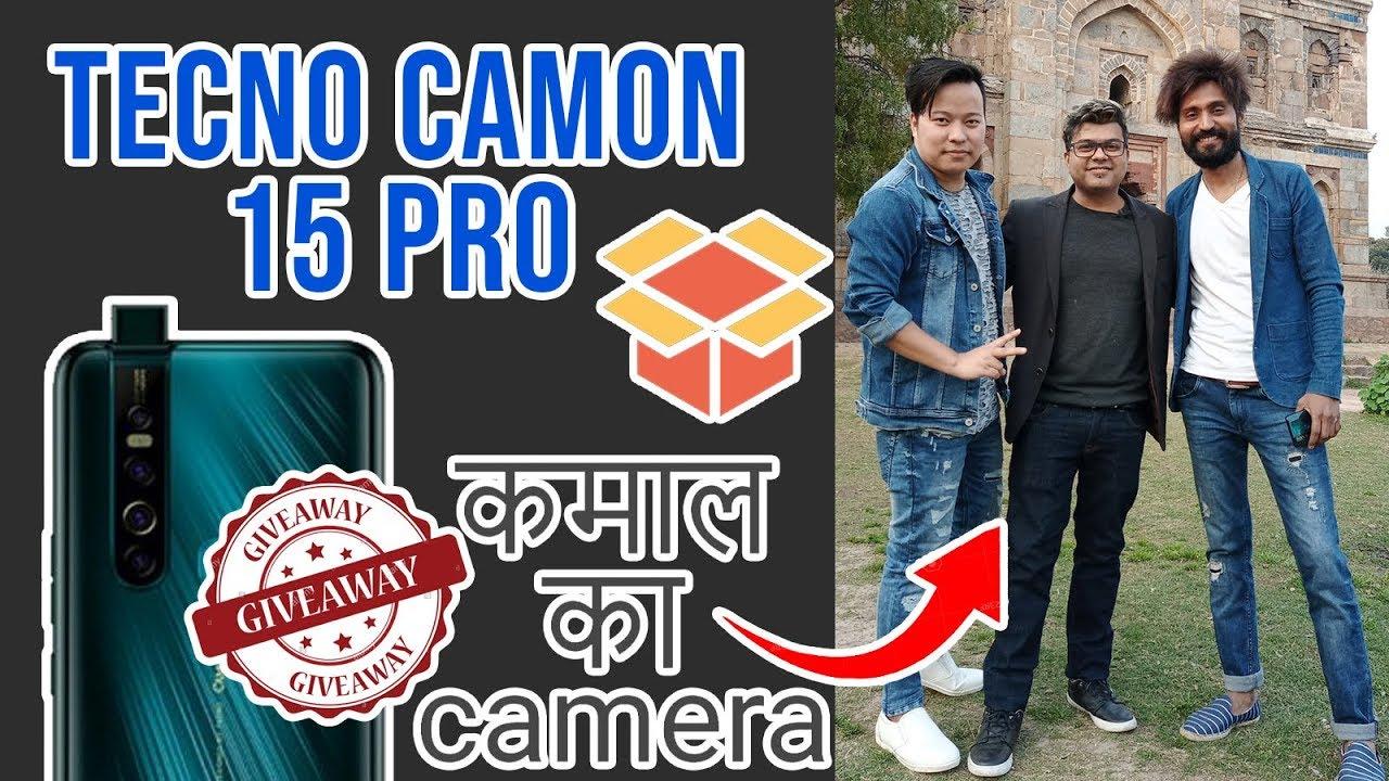 Giveaway, Tecno Camon 15 Pro   Full View Display   Pop Up Camera   Body Slim Mode