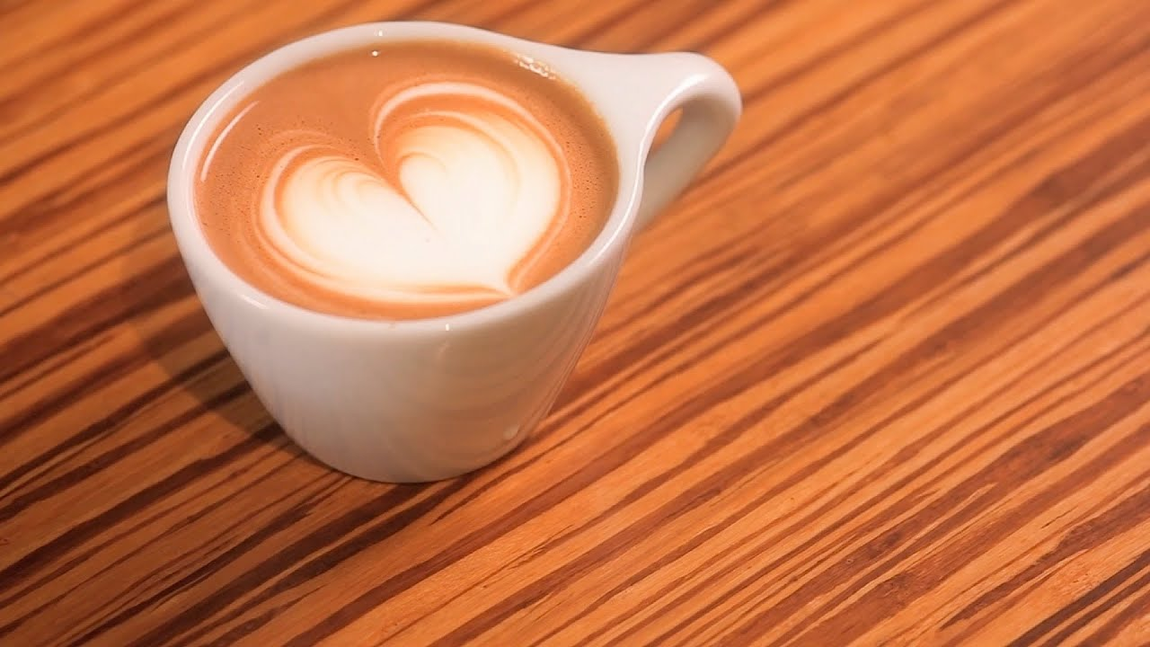 how to pour a heart latte art youtube. Black Bedroom Furniture Sets. Home Design Ideas