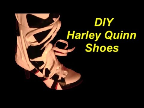 ccafab9e30ad Harley Quinn Suicide Squad Costume DIY Shoes. The Woodland Elf