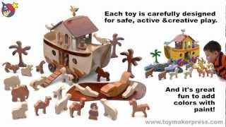 Wood Toy Plans - Noah's Fabulous Ark & Animals