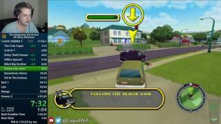 The Simpsons: Hit & Run All Story Missions Speedrun 1:30:46 [World Record]