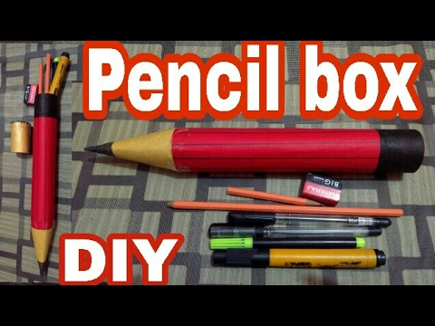 How to make a paper pencil box | gift making | HMA##016