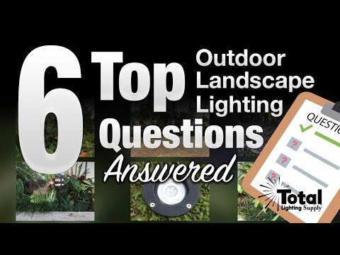 6 Top Outdoor Landscape Lighting Questions Answered ❓📚 By Total Outdoor Lighting