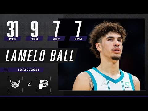 LaMelo Ball notches near double-double! 31 PTS & 9 REB in season opener vs Indiana Pacers 🔥