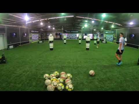 Football full footage of a centre forward position specific session