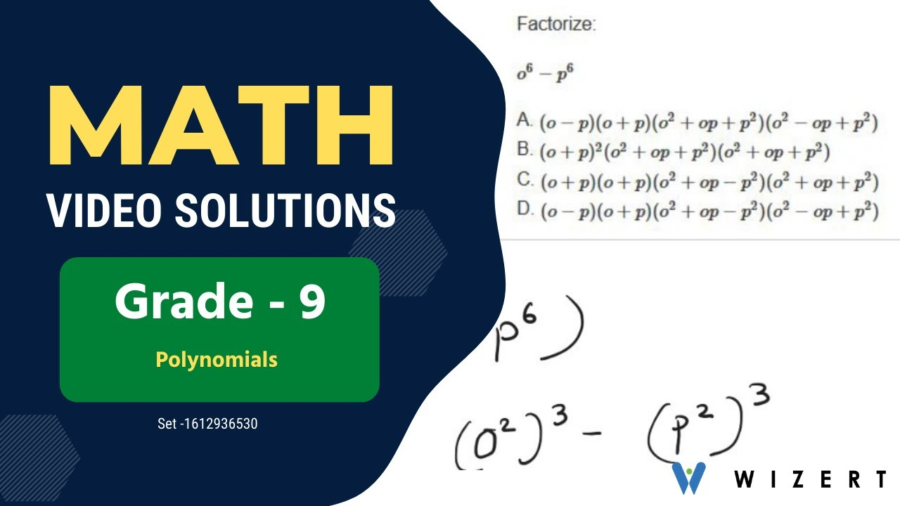 medium resolution of Maths Polynomials worksheets for Grade 9 - Set 1612936530 - YouTube