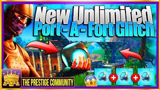 "*NEW* FORTNITE - ""UNLIMITED PORT-A-FORT"" GLITCH 2018! *Working* Fortnite Battle Royale Glitches 2018"