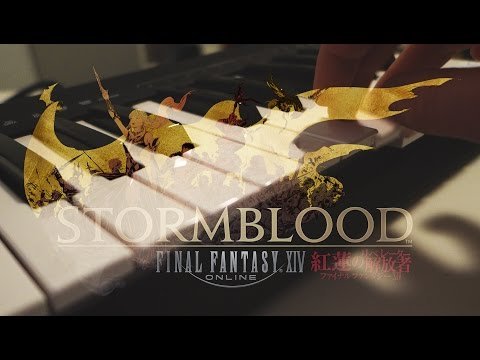 FFXIV Stormblood Theme with Piano - [Music and Art]