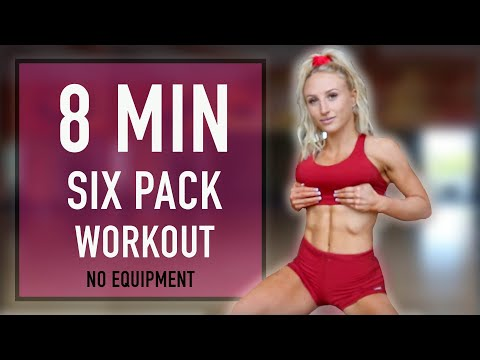 8 MIN SIX PACK WORKOUT No Equipment || For Beginners