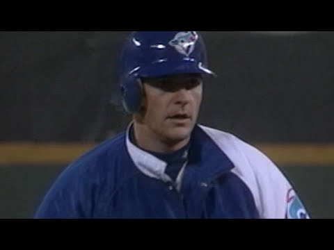 Al Leiter gets a double in first at-bat during WS