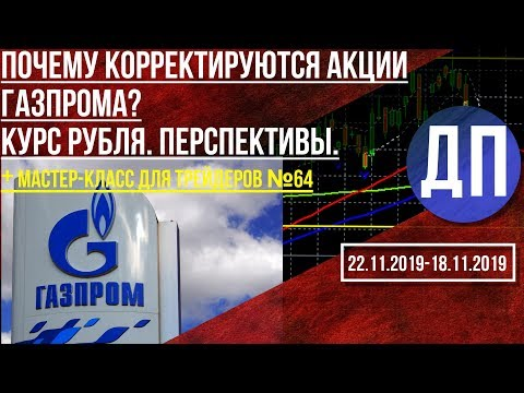 Акции Газпрома корректируются. Вкладчики банков несут деньги на биржу. Курс рубля - перспективы.